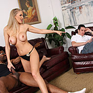 Busty MILF Julia Ann goes black in front of her own son from Watching My Mom Go Black