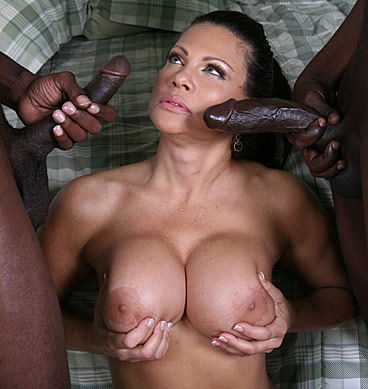 Teri Weigel - Big boobed mature Teri Weigel goes black in front of her son - ...